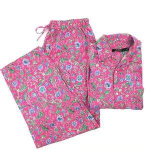 NWOT Ralph Lauren Matching Pajama Set Size Med